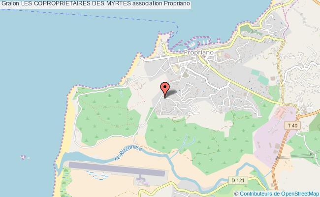plan association Les Coproprietaires Des Myrtes