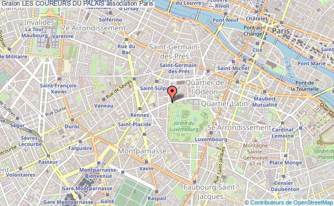 plan association Les Coureurs Du Palais Paris