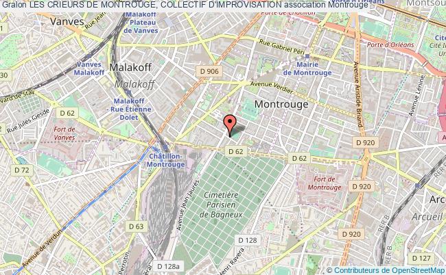 plan association Les Crieurs De Montrouge, Collectif D'improvisation Montrouge