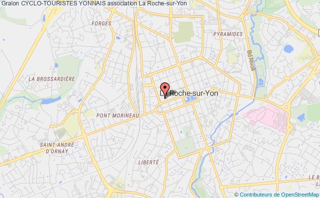 plan association Les Cyclo-touristes Yonnais La    Roche-sur-Yon