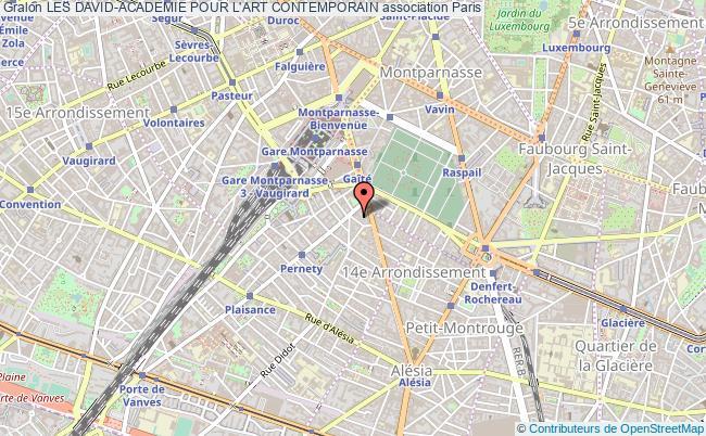plan association Les David-academie Pour L'art Contemporain