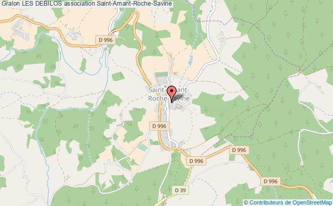 plan association Les Debilos Saint-Amant-Roche-Savine