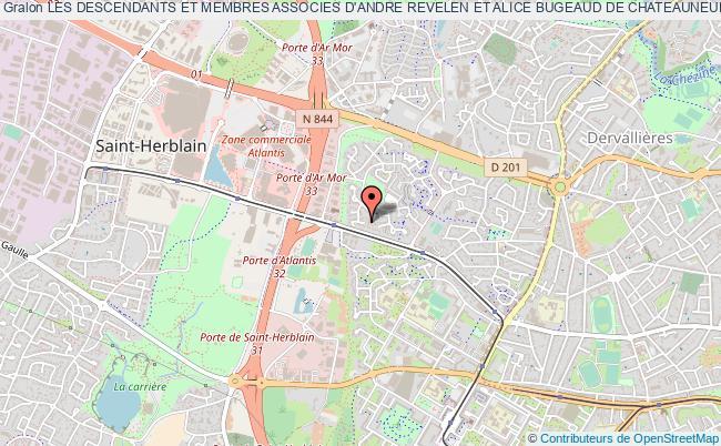 plan association Les Descendants Et Membres Associes D'andre Revelen Et Alice Bugeaud De Chateauneuf Du Faou (les Rev' Du Faou)