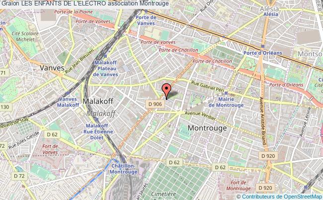 plan association Les Enfants De L'electro Montrouge