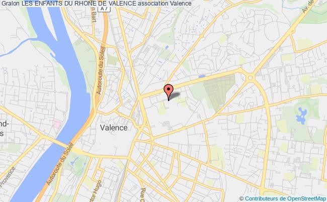 plan association Les Enfants Du Rhone De Valence