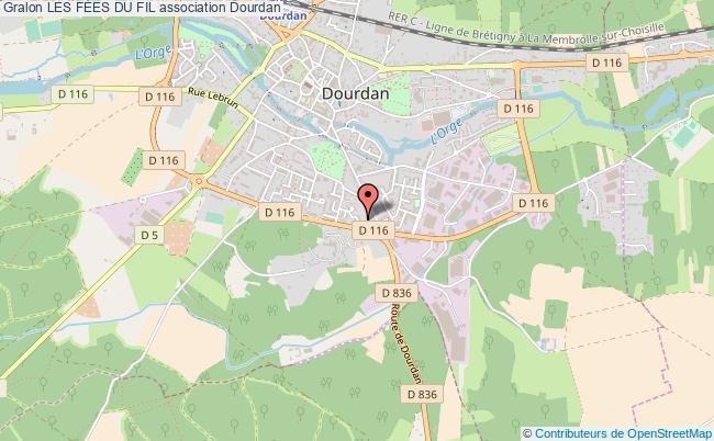plan association Les FÉes Du Fil Dourdan