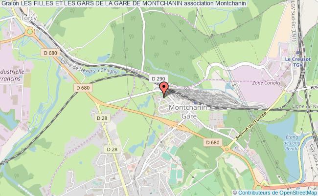 plan association Les Filles Et Les Gars De La Gare De Montchanin
