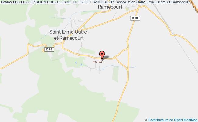 plan association Les Fils D'argent De St Erme Outre Et Ramecourt