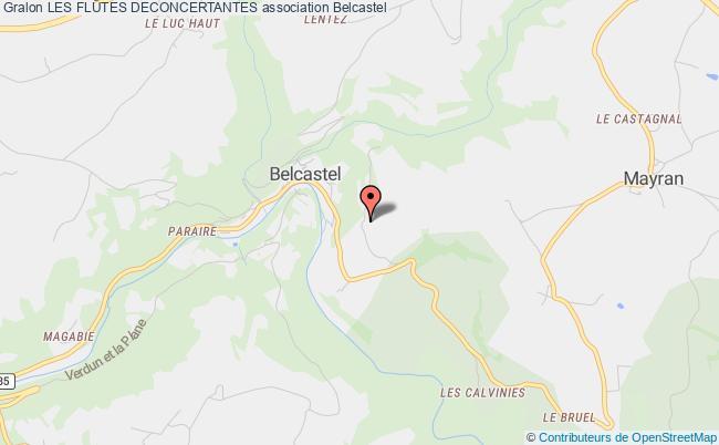 plan association Les FlÛtes Deconcertantes Belcastel
