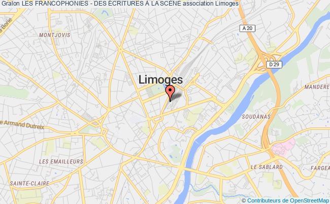 plan association Les Francophonies - Des Écritures À La ScÈne
