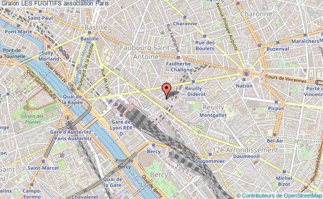 plan association Les Fugitifs Paris