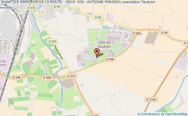 plan association Les Gardiens De La Route - Gdlr 1350 - Antenne Paradou