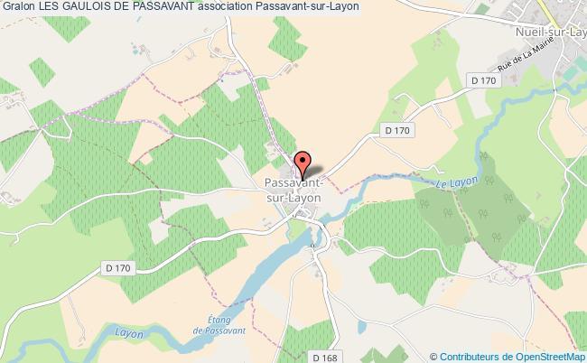 plan association Les Gaulois De Passavant Passavant-sur-Layon