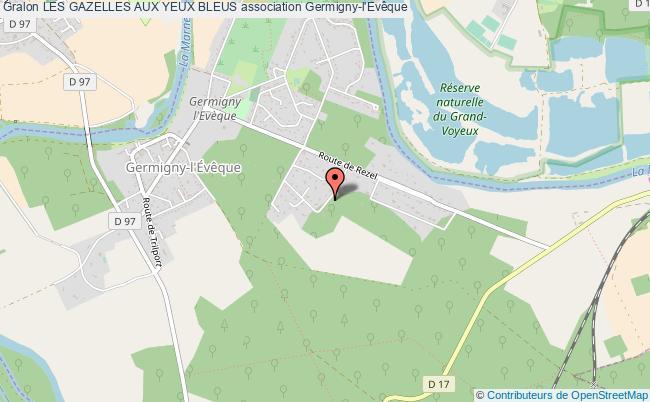 plan association Les Gazelles Aux Yeux Bleus Germigny-l'Évêque