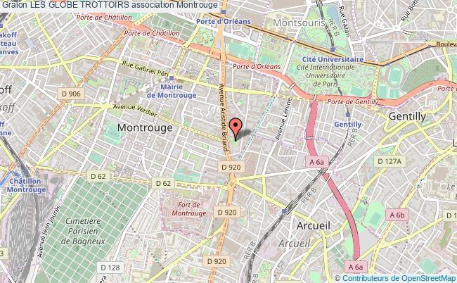 plan association Les Globe Trottoirs Montrouge