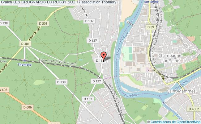plan association Les Grognards Du Rugby Sud 77