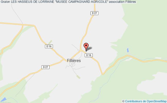 """plan association Les Hasseus De Lorraine """"musee Campagnard Agricole"""""""