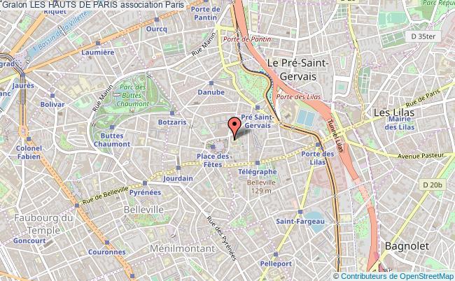 plan association Les Hauts De Paris