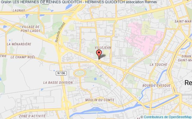 plan association Les Hermines De Rennes Quidditch - Hermines Quidditch