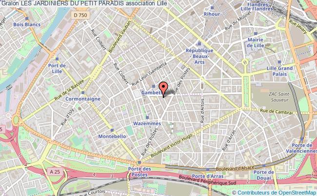 plan association Les Jardiniers Du Petit Paradis Lille