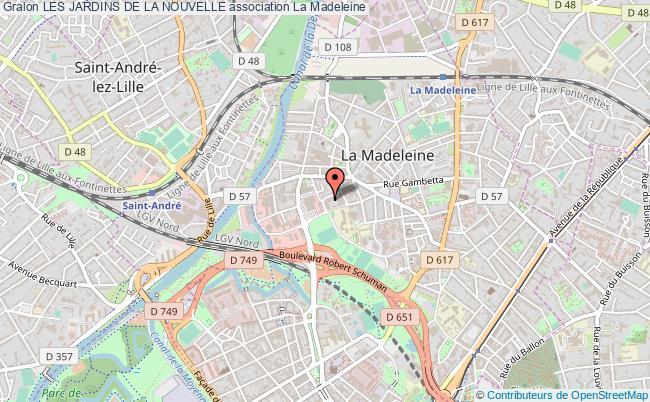 plan association Les Jardins De La Nouvelle la madeleine