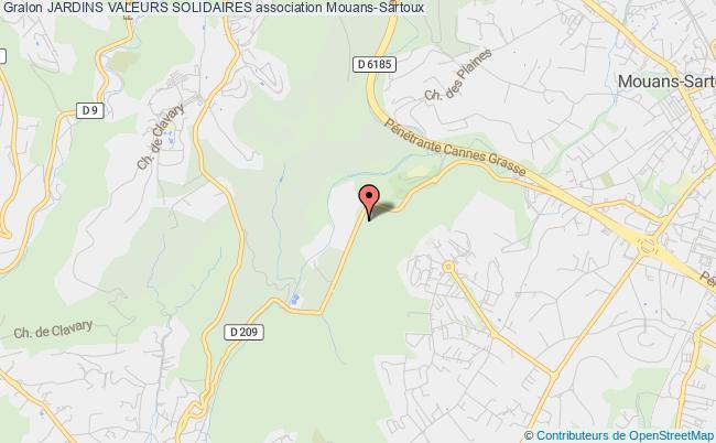 plan association Les Jardins De La Vallee De La Siagne Baie De Cannes Mandelieu Mouans-Sartoux