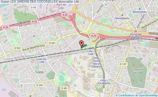 plan association Les Jardins Des Coccinelles Lille