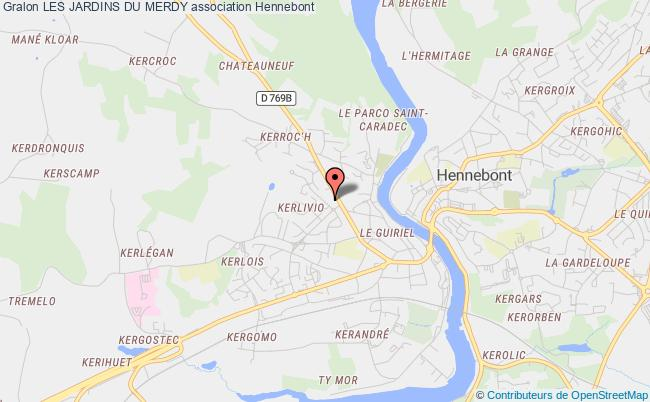 plan association Les Jardins Du Merdy Hennebont