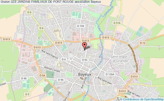 plan association Les Jardins Familiaux De Pont Rouge Bayeux
