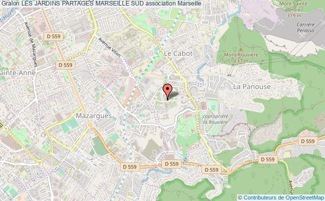 plan association Les Jardins Partages Marseille Sud