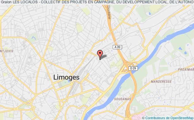 plan association Les Localos - Collectif Des Projets En Campagne, Du DÉveloppement Local, De L'autonomie Et De L'impertinence