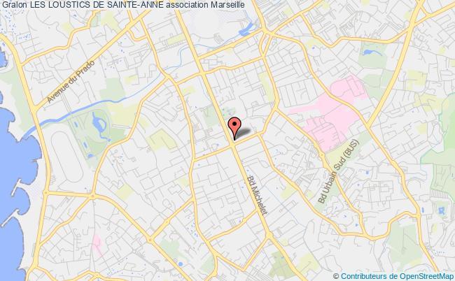 plan association Les Loustics De Sainte-anne Marseille