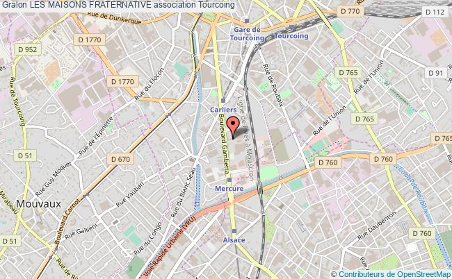 plan association Les Maisons Fraternative Tourcoing