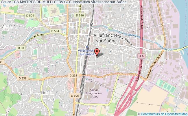 plan association Les Maitres Du Multi-services Villefranche-sur-Saône