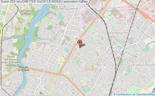 plan association Les Majorettes D'azay-le-rideau