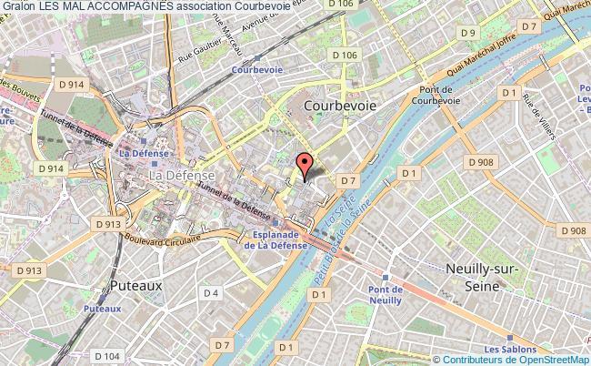 plan association Les Mal AccompagnÉs Courbevoie