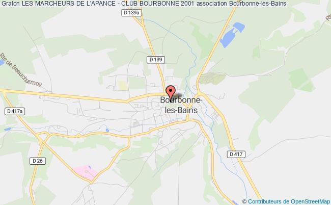 plan association Les Marcheurs De L'apance - Club Bourbonne 2001