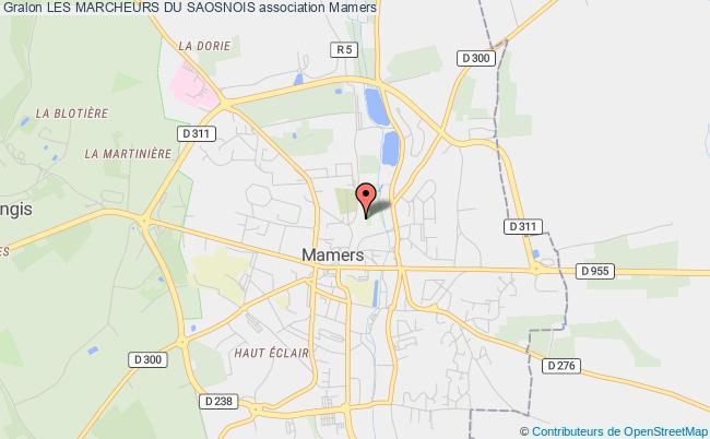 plan association Les Marcheurs Du Saosnois
