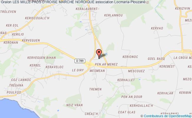 plan association Les Mille-pads D'iroise Marche Nordique