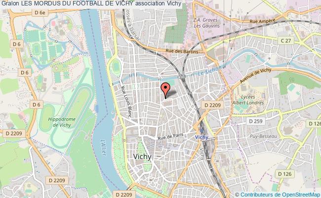 plan association Les Mordus Du Football De Vichy