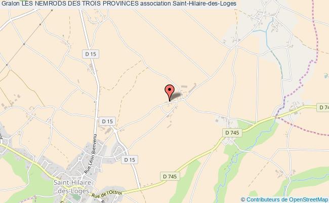 plan association Les Nemrods Des Trois Provinces