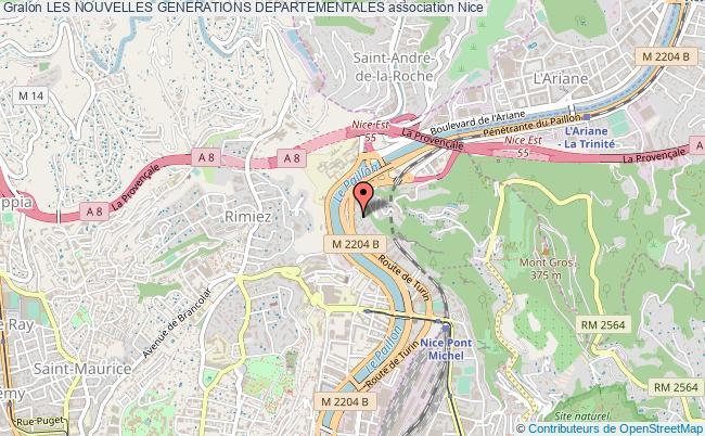 plan association Les Nouvelles Generations Departementales Nice