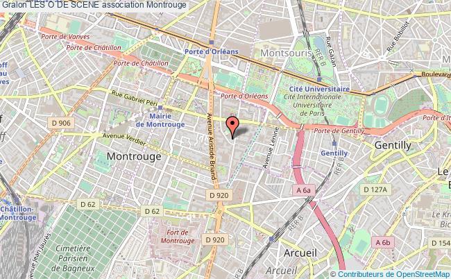 plan association Les O De Scene Montrouge