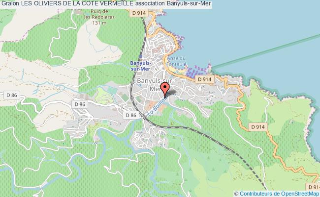 plan association Les Oliviers De La Cote Vermeille Banyuls-sur-Mer