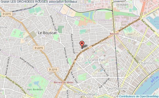 plan association Les Orchidees Rouges Bordeaux
