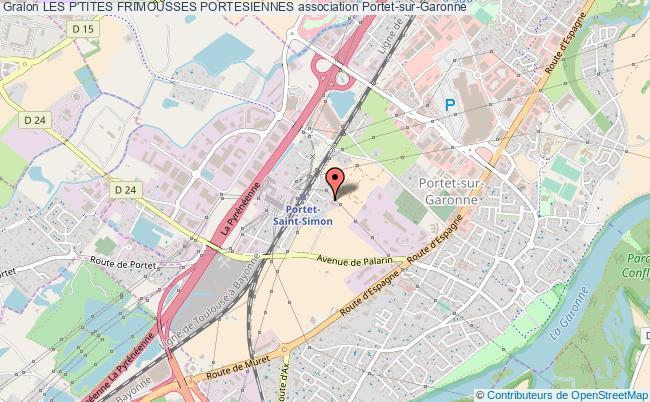 plan association Les P'tites Frimousses Portesiennes