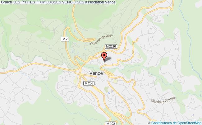 plan association Les P'tites Frimousses Vencoises