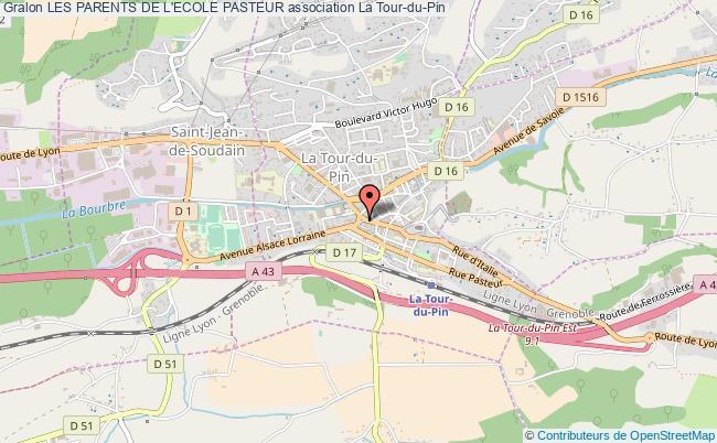 plan association Les Parents De L'ecole Pasteur La    Tour-du-Pin