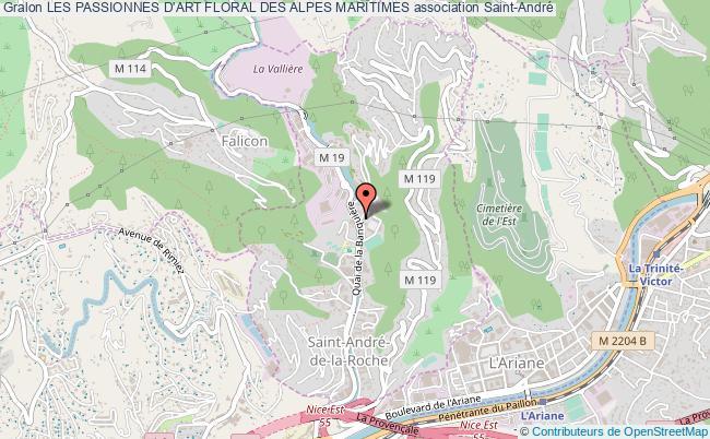 plan association Les Passionnes D'art Floral Des Alpes Maritimes