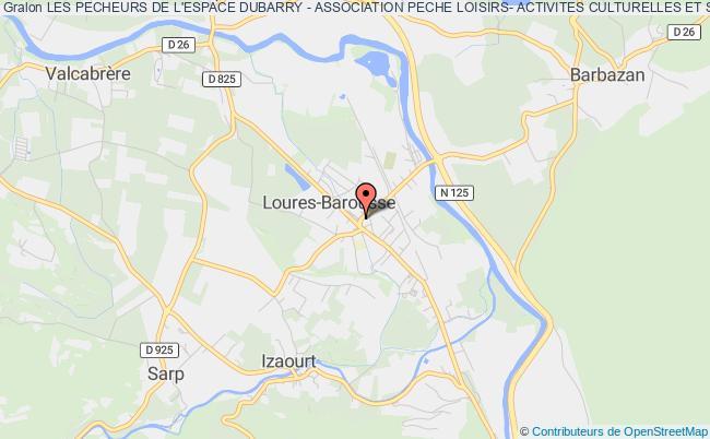plan association Les Pecheurs De L'espace Dubarry - Association Peche Loisirs- Activites Culturelles Et Sportives